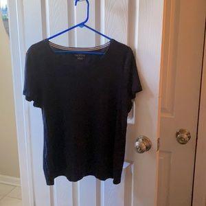 Talbots | Size XL Dark Blue Short Sleeved Shirt